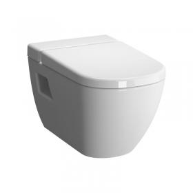 VITRA 5911 مرحاض معلق بدون حافة مع خزان نظافة -غطاء مرحاض هيدروليك